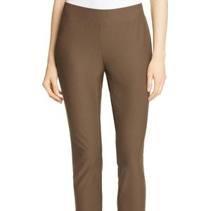 Eileen Fisher S washable stretch crepe slim ankle